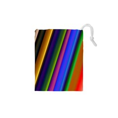 Strip Colorful Pipes Books Color Drawstring Pouches (XS)
