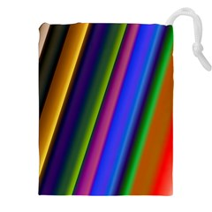 Strip Colorful Pipes Books Color Drawstring Pouches (xxl)