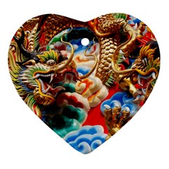 Thailand Bangkok Temple Roof Asia Ornament (Heart)
