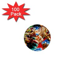 Thailand Bangkok Temple Roof Asia 1  Mini Magnets (100 pack)