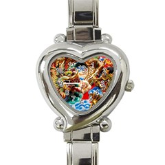 Thailand Bangkok Temple Roof Asia Heart Italian Charm Watch