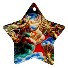 Thailand Bangkok Temple Roof Asia Star Ornament (Two Sides)