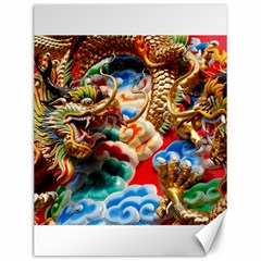 Thailand Bangkok Temple Roof Asia Canvas 12  x 16