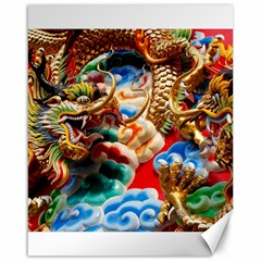 Thailand Bangkok Temple Roof Asia Canvas 16  X 20