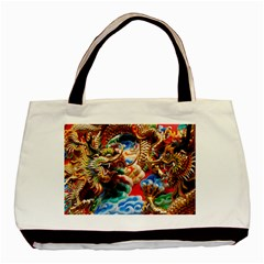 Thailand Bangkok Temple Roof Asia Basic Tote Bag (Two Sides)
