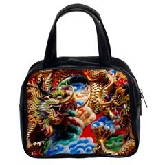Thailand Bangkok Temple Roof Asia Classic Handbags (2 Sides)