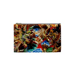 Thailand Bangkok Temple Roof Asia Cosmetic Bag (small)