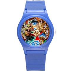 Thailand Bangkok Temple Roof Asia Round Plastic Sport Watch (s)
