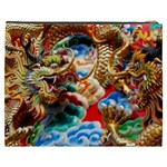 Thailand Bangkok Temple Roof Asia Cosmetic Bag (XXXL)  Back