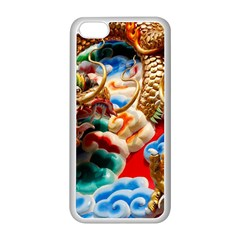 Thailand Bangkok Temple Roof Asia Apple Iphone 5c Seamless Case (white)