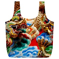 Thailand Bangkok Temple Roof Asia Full Print Recycle Bags (l)