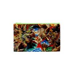 Thailand Bangkok Temple Roof Asia Cosmetic Bag (XS)