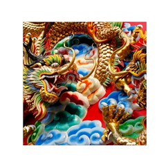 Thailand Bangkok Temple Roof Asia Small Satin Scarf (square)