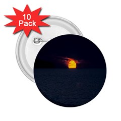 Sunset Ocean Azores Portugal Sol 2 25  Buttons (10 Pack)