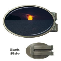 Sunset Ocean Azores Portugal Sol Money Clips (Oval)