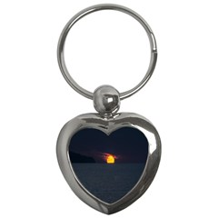 Sunset Ocean Azores Portugal Sol Key Chains (heart)