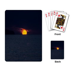Sunset Ocean Azores Portugal Sol Playing Card