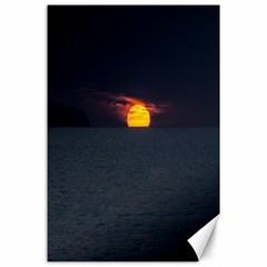 Sunset Ocean Azores Portugal Sol Canvas 24  x 36