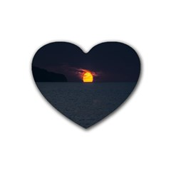 Sunset Ocean Azores Portugal Sol Rubber Coaster (heart)
