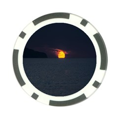 Sunset Ocean Azores Portugal Sol Poker Chip Card Guard (10 pack)
