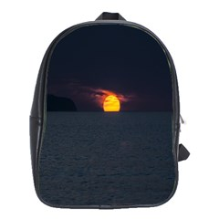 Sunset Ocean Azores Portugal Sol School Bags(Large)
