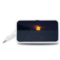 Sunset Ocean Azores Portugal Sol Portable Speaker (White)