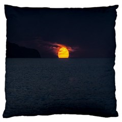 Sunset Ocean Azores Portugal Sol Large Cushion Case (Two Sides)