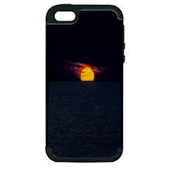 Sunset Ocean Azores Portugal Sol Apple iPhone 5 Hardshell Case (PC+Silicone)
