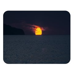 Sunset Ocean Azores Portugal Sol Double Sided Flano Blanket (Large)
