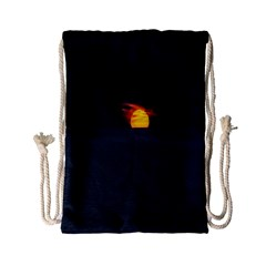 Sunset Ocean Azores Portugal Sol Drawstring Bag (small)