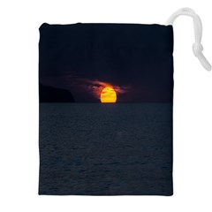 Sunset Ocean Azores Portugal Sol Drawstring Pouches (XXL)