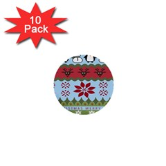 Ugly Christmas Xmas 1  Mini Buttons (10 pack)