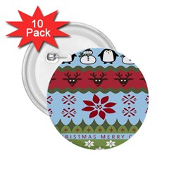 Ugly Christmas Xmas 2 25  Buttons (10 Pack)