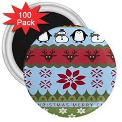 Ugly Christmas Xmas 3  Magnets (100 pack)