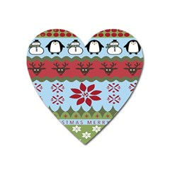 Ugly Christmas Xmas Heart Magnet