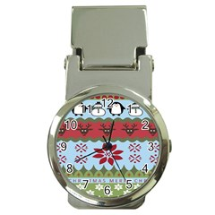 Ugly Christmas Xmas Money Clip Watches