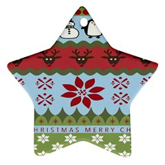Ugly Christmas Xmas Star Ornament (Two Sides)