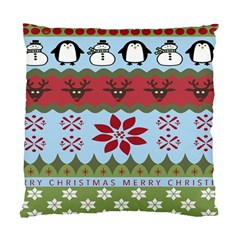 Ugly Christmas Xmas Standard Cushion Case (Two Sides)