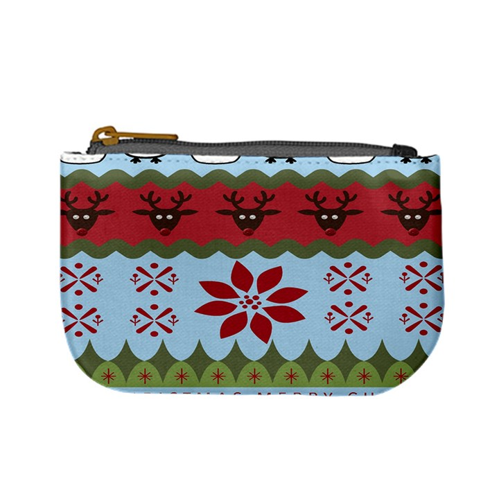 Ugly Christmas Xmas Mini Coin Purses