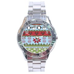Ugly Christmas Xmas Stainless Steel Analogue Watch