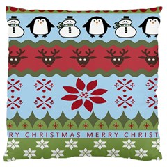 Ugly Christmas Xmas Large Cushion Case (Two Sides)