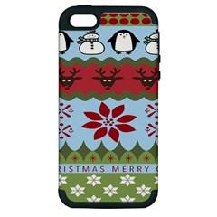 Ugly Christmas Xmas Apple iPhone 5 Hardshell Case (PC+Silicone)