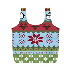 Ugly Christmas Xmas Full Print Recycle Bags (M)