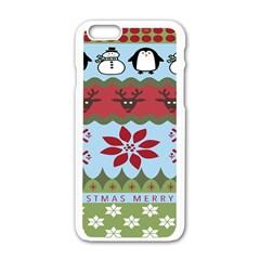 Ugly Christmas Xmas Apple Iphone 6/6s White Enamel Case