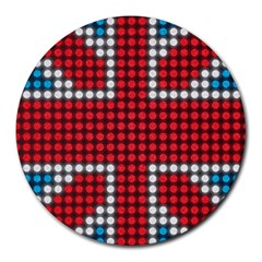 The Flag Of The Kingdom Of Great Britain Round Mousepads