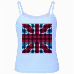 The Flag Of The Kingdom Of Great Britain Baby Blue Spaghetti Tank