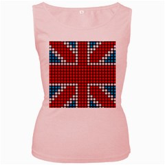 The Flag Of The Kingdom Of Great Britain Women s Pink Tank Top