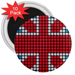 The Flag Of The Kingdom Of Great Britain 3  Magnets (10 pack)