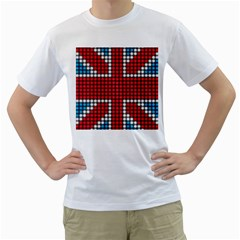 The Flag Of The Kingdom Of Great Britain Men s T-Shirt (White) (Two Sided)