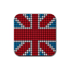 The Flag Of The Kingdom Of Great Britain Rubber Square Coaster (4 pack)